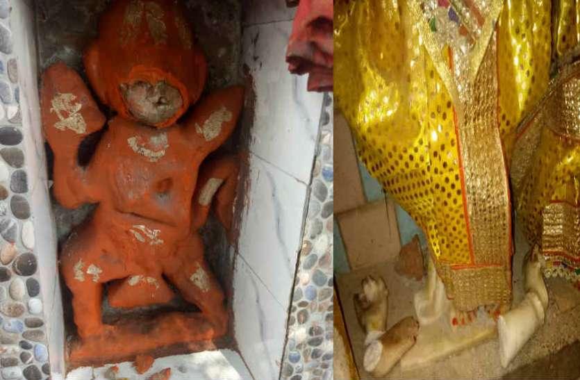 मंदिर की मूर्तियां तोड़कर दंगा फैलाने की साजिश, समुदाय विशेष का युवक गिरफ्तार