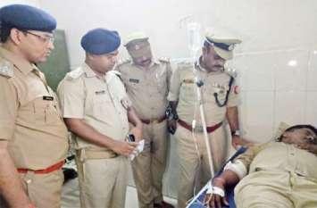पुलिस और बदमाशों के बीच जबरदस्त मुठभेड़: चंकी पांडेय सहित दो बदमाश घायल, सिपाही को लगी गोली