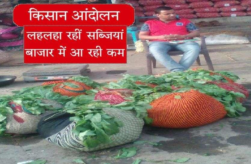 किसान आंदोलन- लहलहा रही सब्जियां, बाजार में आ रही कम