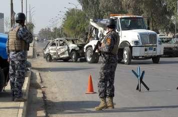 इराक बम धमाके में 4 पुलिसकर्मियों की मौत