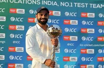 ICC Ranking: भारत की बादशाहत बरकरार, टॉप टेन में टीम इंडिया के 2 बल्लेबाज