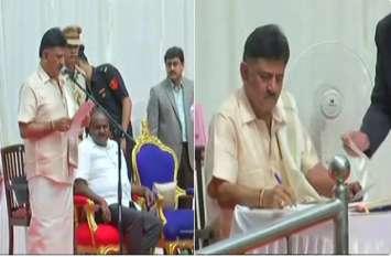 कर्नाटक: कांग्रेस-जेडीएस सरकार का कैबिनेट विस्तार, मंत्रियों ने ली शपथ