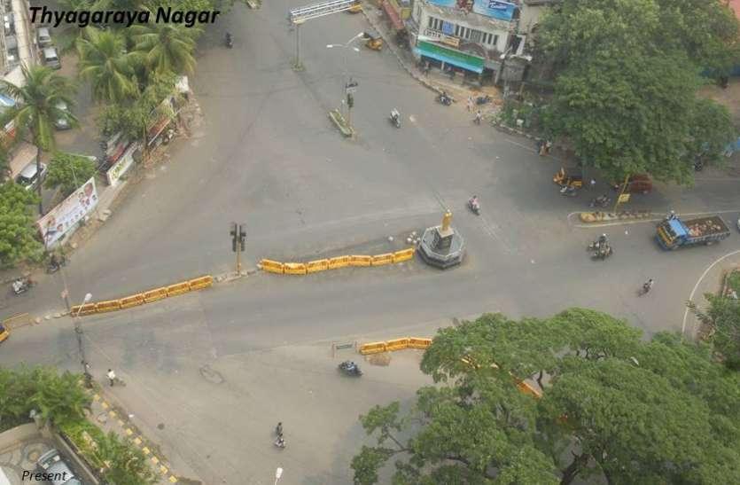 टी. नगर के पांडि बाजार में फुटपाथ का निर्माण कार्य शुरू