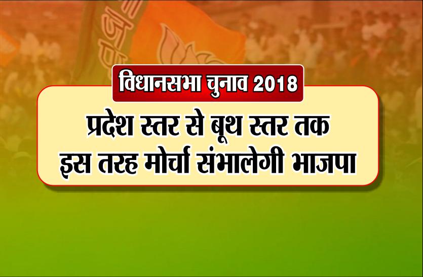 विधानसभा चुनाव 2018: प्रदेश स्तर से बूथ स्तर तक इस तरह मोर्चा संभालेगी भाजपा