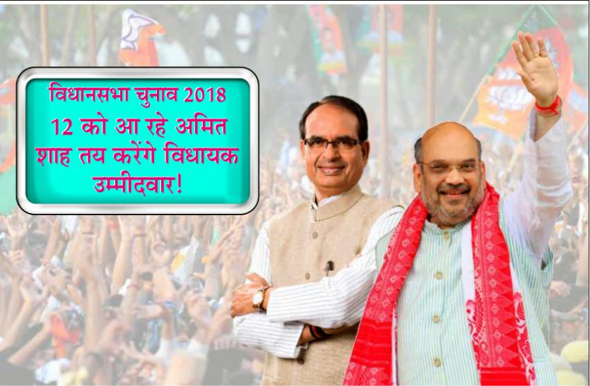 विधानसभा चुनाव 2018: 12 को आ रहे अमित शाह तय करेंगे विधायक उम्मीदवार!
