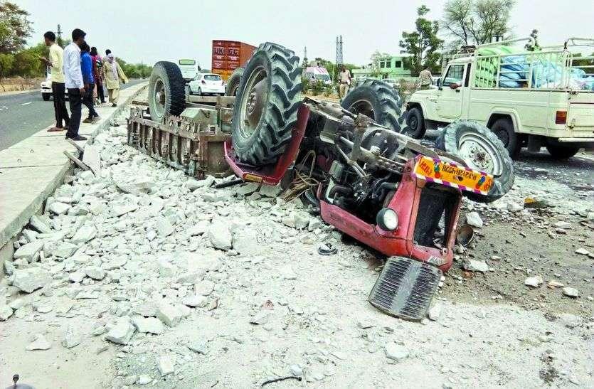 ट्रक-ट्रैक्टर ट्राली में भिड़ंत से हुआ खौफनाक हादसा, देखने वालों की कांप उठी रूह