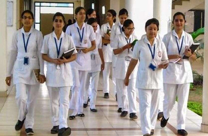 प्रदेशभर के नर्सिंगकर्मियों ने ऐसे दी सरकार को चेतावनी