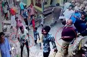 यूपी के जौनपुर में खदेड़ी गई खाकी, लोगों ने ईंट-पत्थर लेकर दौड़ा लिया
