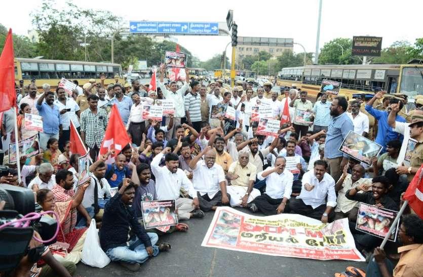 स्टरलाइट प्रदर्शन उग्र होने से चेन्नई में सुरक्षा इंतजाम सख्त