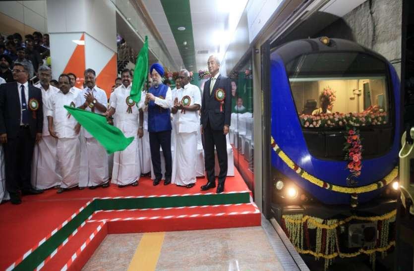 देश में सबसे लम्बा सुरंगी मार्ग चेन्नई मेट्रो का : पलनीस्वामी