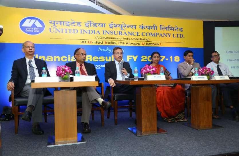 युनाइटेड इंडिया को 1003 करोड़ का शुद्ध लाभ