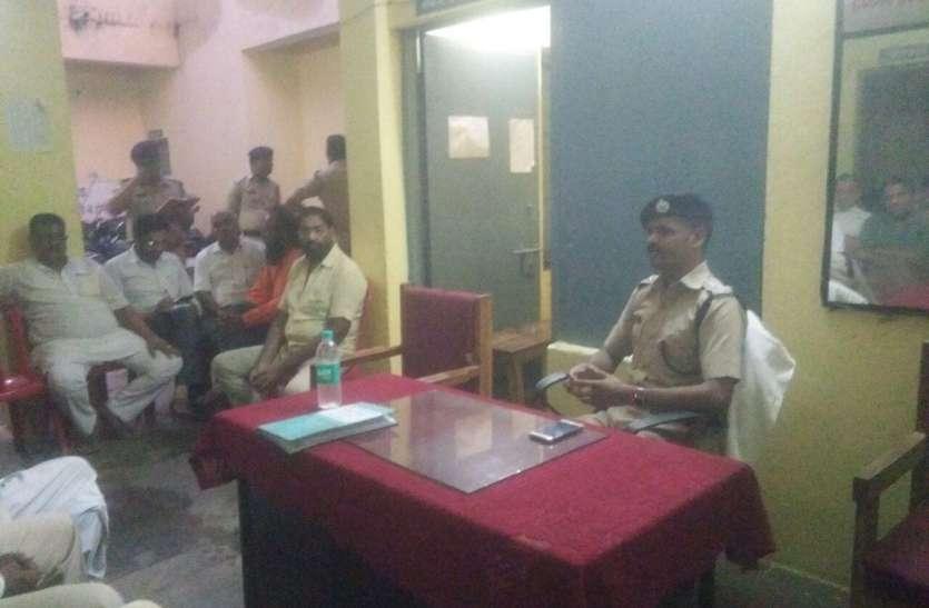 आमजनो से रूबरू हुए एसपी, कहा सौहार्दपुर्ण मनाए त्यौहार