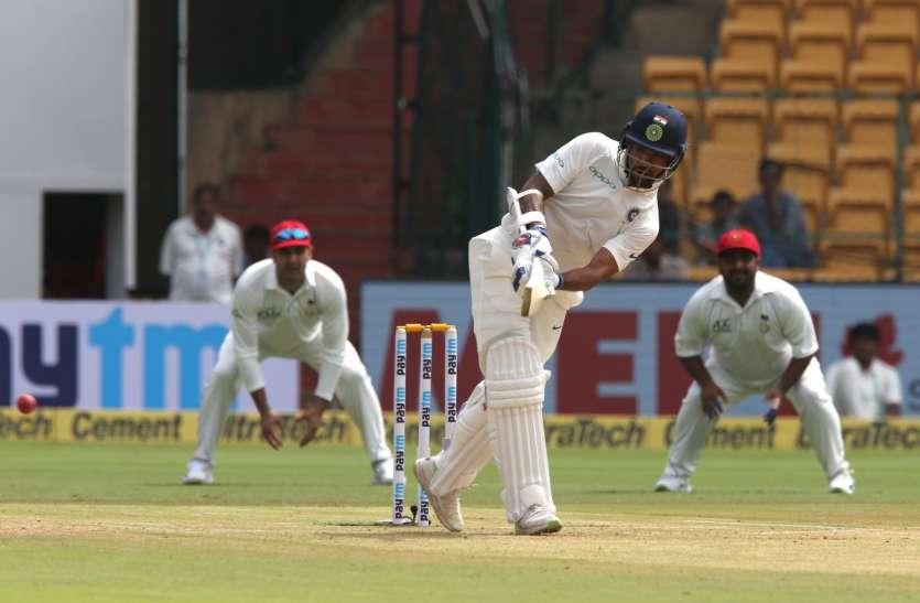 IND vs AFG : अंतिम सत्र में अफगान ने की वापसी, पहले दिन में भारत ने बनाए 347 रन