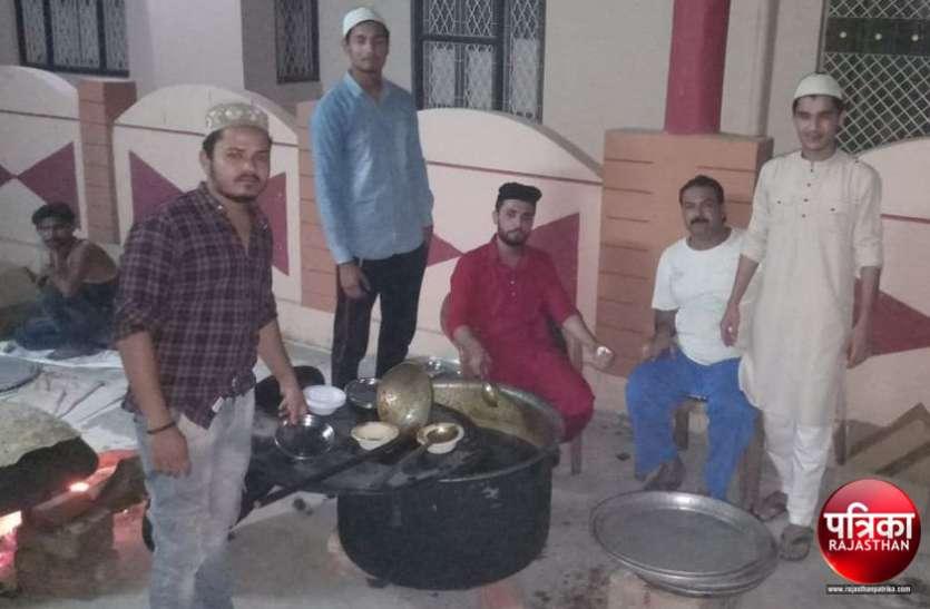 बांसवाड़ा : रमजान के पवित्र माह में रोजेदारों के लिए युवाओं ने किया सेहरी का इंतजाम