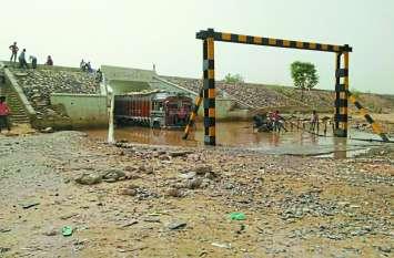 जरा सी बारिश 50 गांवों पर पड़ रही भारी,  रेलवे और नगर पालिका एक दूसरे पर फोड़ रहे ठीकरा