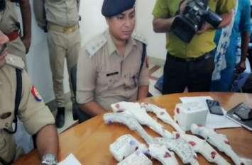 पुलिस ने किया अवैध हथियार बनाने वाली फैक्ट्री का खुलासा