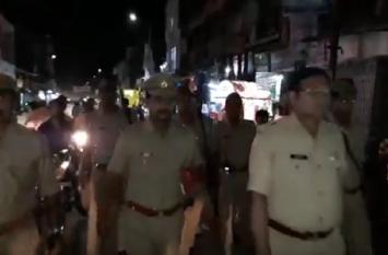 मोदी के फिटनेस चैलेंज और ईद की सुरक्षा को लेकर SP का पैदल गस्त अभियान