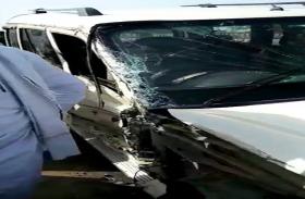 BIG BREAKING  भाजपा विधायक की गाड़ी को ट्रक ने पुल पर  कई बार मारी टक्कर, दो की हालत गंभीर