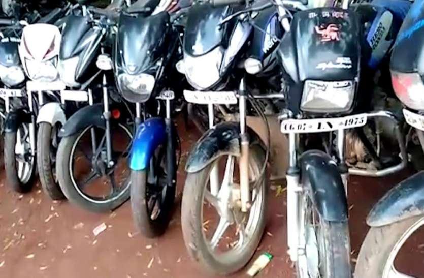 आजमगढ़ में बाइक चोर गैंग के पांच गिरफ्तार, कई बाइक बरामद