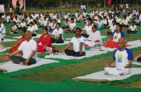 International Yoga Day सीएम के शहर में पूरे दिन योग का रहा पूरे दिन योग