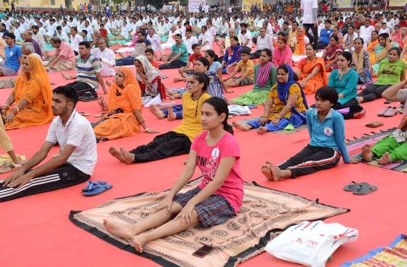 international yog day 2018 live updates from sikar district