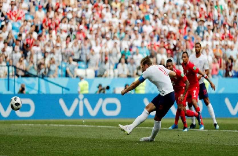 FIFA WC 2018 : कप्तान केन की हैट्रिक,इंग्लैंड ने बनाई अंतिम 16 में जगह