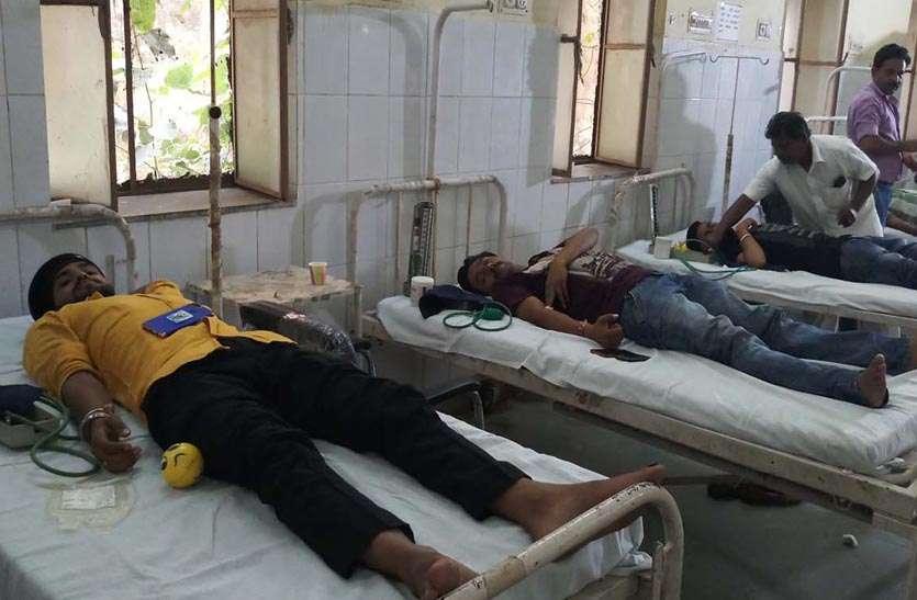 रावणा राजपूत सेवा संस्थान की ओर से शिविर में 60 यूनिट हुआ रक्तदान