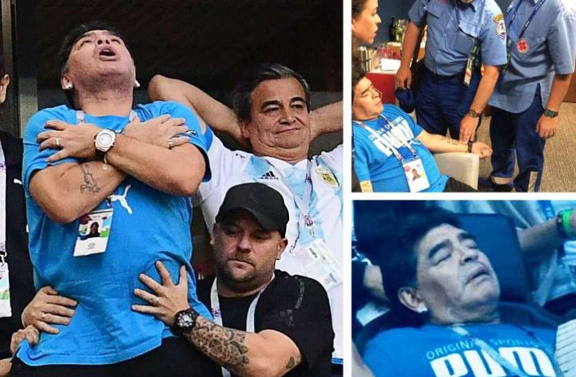 FIFA WC 2018: जीत की खुशी बर्दाश्त नहीं कर पाए माराडोना, मैदान पर सिचुएशन हुई आउट ऑफ कण्ट्रोल