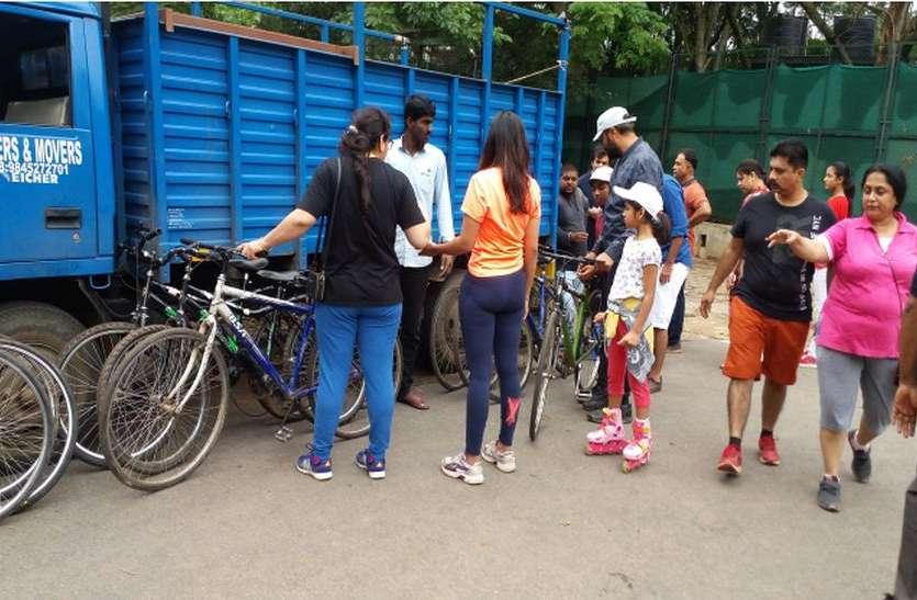 कब्बन पार्क से बाहर नहीं निकल पाई साइकिल योजना