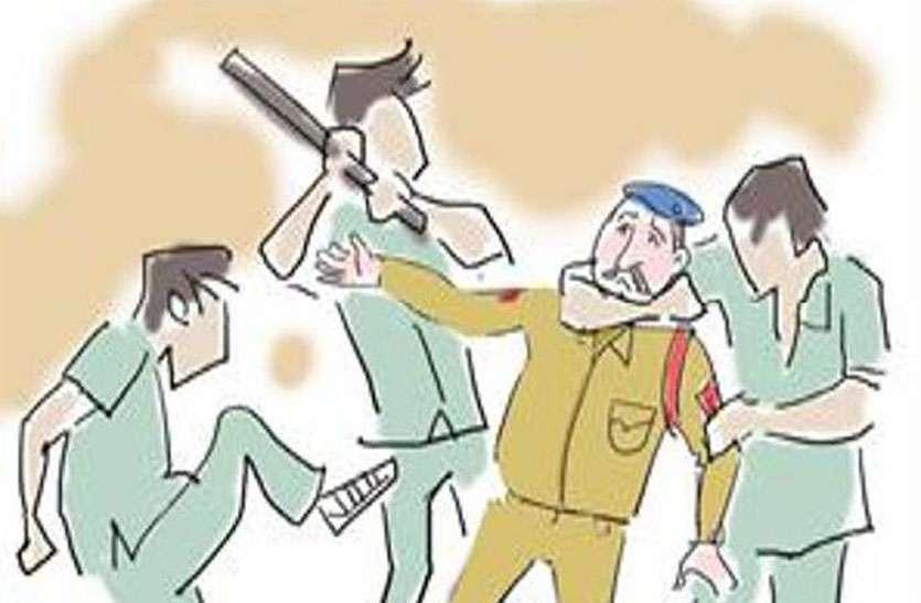 डिस्कॉमकर्मियों व पुलिस जाब्ते पर जानलेवा हमला
