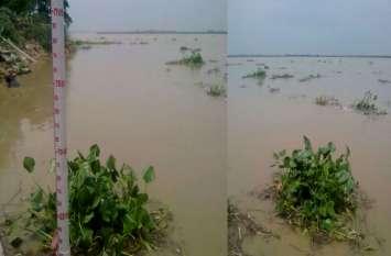घाघरा नदी में कटान की आशंका, बीते चौबीस घंटे में 75 सेमी बढ़ा जलस्तर
