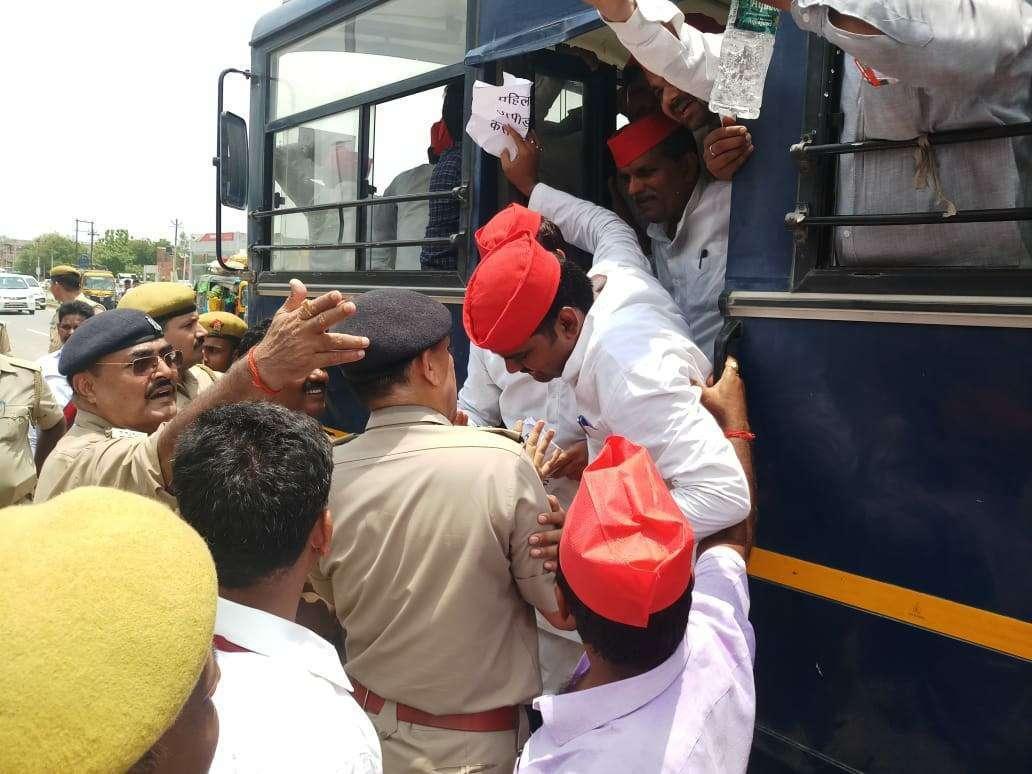 Samajwadi Party Leader in Police Custody