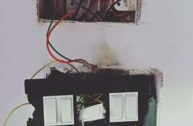 बिजली मीटर में धमाका, दुकानदारों को नुकसान