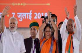 PM मोदी ने दूर की प्रदेश की राजनीतिक खींचतान, राजस्थान में मुख्यमंत्री राजे ही करेंगी आगामी चुनावों का नेतृत्व