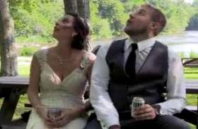 पार्क में बैठकर यूं फोटोशूट करा रहा था नव विवाहित जोड़ा, अचानक हुआ दिल-दहला देने वाला हादसा