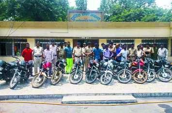 चोरी की 13 बाइकों के साथ 6 आरोपी गिरफ्तार, देखिए कैसे वारदात को देते थे अंजाम