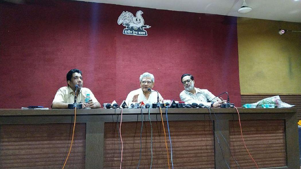 विपक्षी दल एकजुट नहीं हो रहे जनता का दबाव है भाजपा को हटाने के लिए - येचूरी