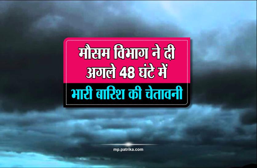 मौसम विभाग ने दी अगले 48 घंटे में भारी बारिश की चेतावनी, सुबह से काले बादलों का डेरा