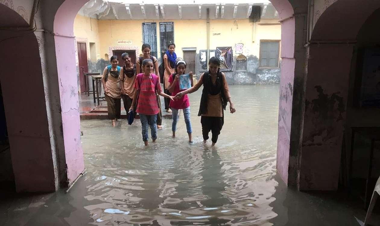heavy rain churu