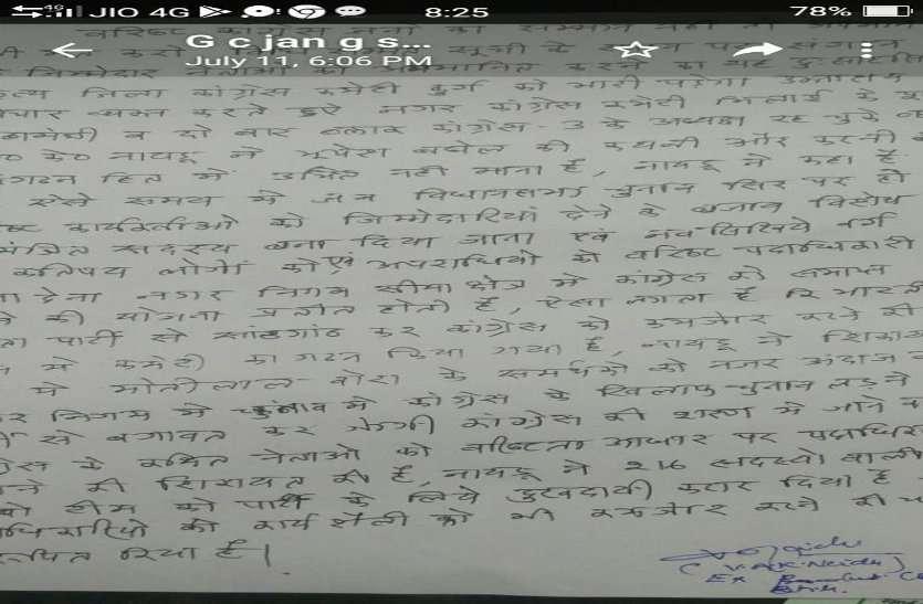 अंधेरे में रखकर कराया हस्ताक्षर और पीसीसी चीफ पर लगाया आरोप, जिला कांग्रेस में सियासी उबाल