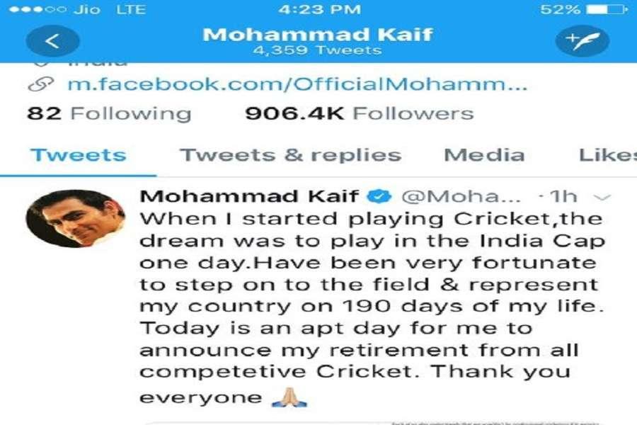 Mohammad Kaif tweet