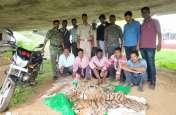 बाघ और तेंदुए की खाल के साथ पांच शिकारी गिरफ्तार