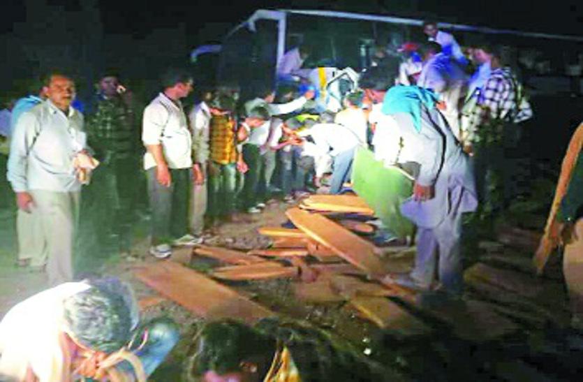लोक परिवहन बस फिर बनी 'परलोक परिवहन', जीप सवार दो जनों की मौत