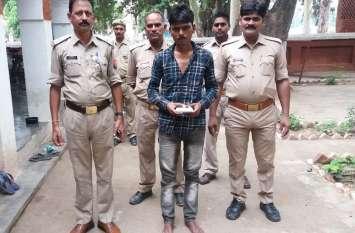 चरस और लूट के माल के साथ पुलिस ने तीन शातिर अभियुक्तों को किया गिरफ्तार, बाकियों की
