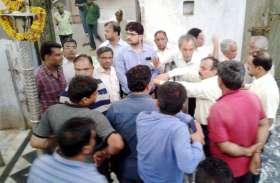 कल्याण मंदिर में विकास कार्यों में धीमी गति से नाराज हुए अधिकारी