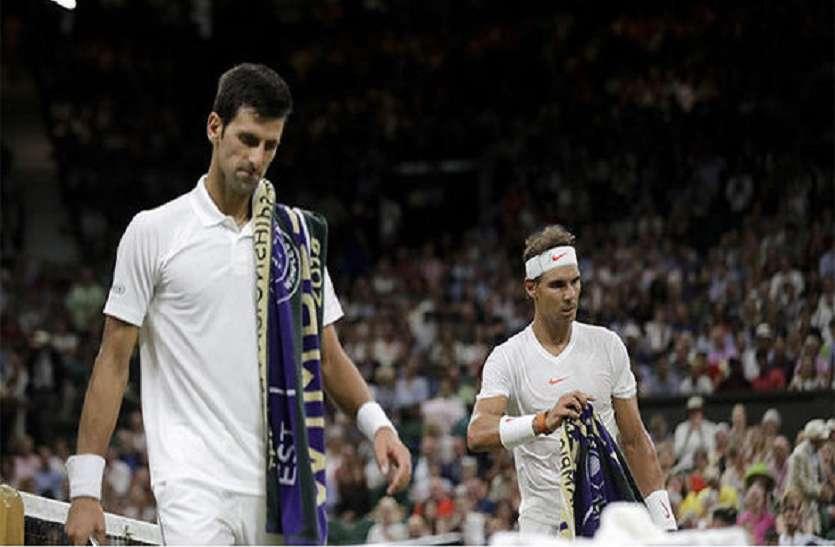 Wimbledon 2018 : 'कर्फ्यू' के कारण जोकोविक-नडाल का सेमीफाइनल मैच रुका