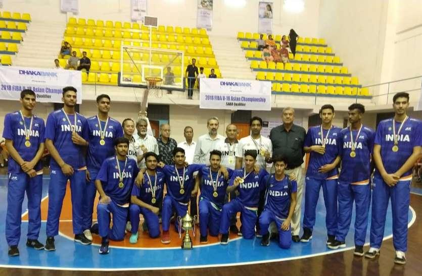 बास्केटबॉल चैम्पियनशिप में बीकानेर के इस खिलाडी ने देश को दिलाया स्वर्ण पदक