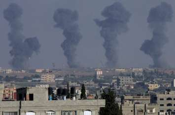 चार साल बाद आतंकी संगठन हमास के ठिकानों पर इजरायल का सबसे बड़ा हमला