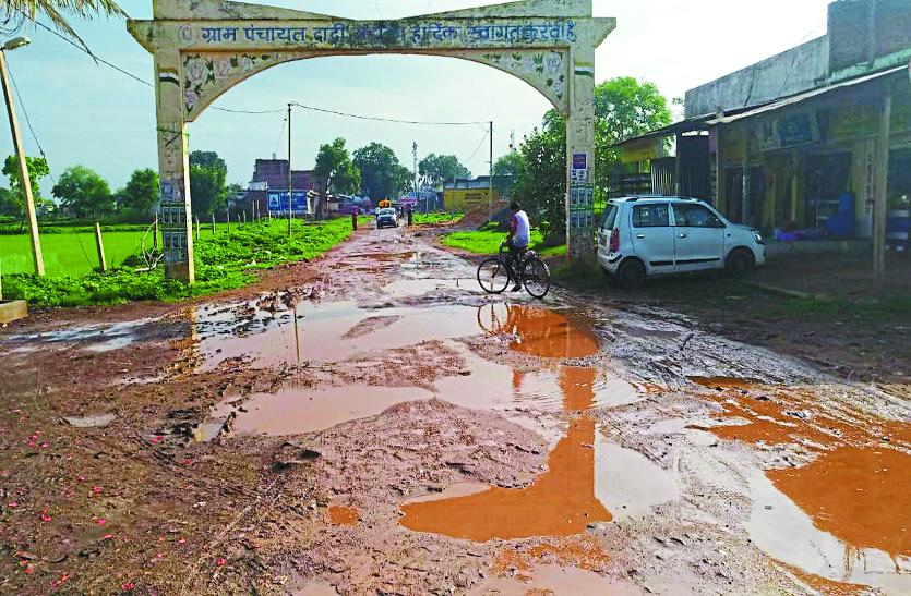 गांव-गांव में पीटा जा रहा विकास का ढिंढोरा, इधर सड़क व नाली की सुविधा भी नहीं