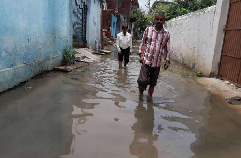 जलमग्न हुआ पाली का रानी मोहल्ला